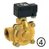 Solenoid valves, open when de-energised, pilot-operated