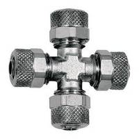 X-unions - nickel-plated brass