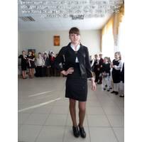 Школьная форма для девчонок старших классов, черная