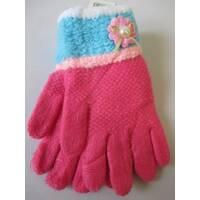 Трикотажные перчатки для девочек.