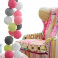 Гирлянда Cottonballlights 20 шариков Caramel