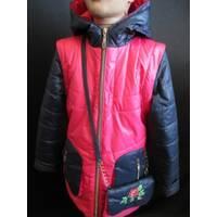 Двухцветные куртки из плащевки для девочек.