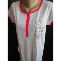 Ночные сорочки с коротким рукавом для женщин.