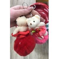 Мишка и шар меховой