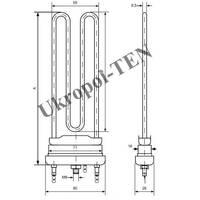 Трубчастий електронагрівач для пральних машин 4401-224