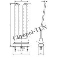 Трубчастий електронагрівач для пральних машин 2812-225