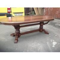 Шикарний стіл з різьбою з масиву дуба купити в Україні
