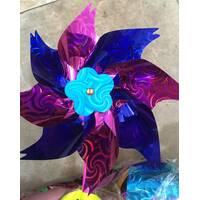 Ветряк фольга цветок