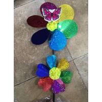 Ветряк фольга на 2 цветка