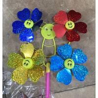 Вітряк метелик на 4 квітки фольга