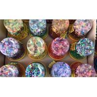 Жуйка для рук слайм з блискітками і кольоровими кульками з пінопласту / великого розміру