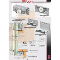 Розсувна система для шаф верхнього спирання SGM01