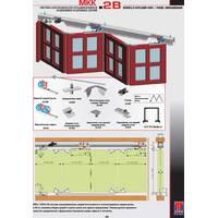 Раздвижная система для шкафов верхнего опирания МКК-2В (гармошка)