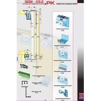 Розсувна система для шаф верхнього спирання SGM03-2PK