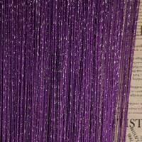 штори нитки однотонні дощ номер 205 фіолетові