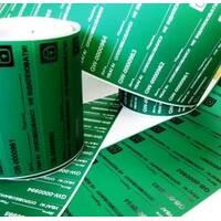 Індикаторні пломби-наклейки 20х70 мм, зелена, НЕ залишає слід на об'єкті купити у Львові