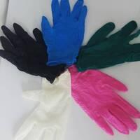 Рукавичі нітрилові неопудрені CEROS(чорні,рожеві,бірюза) XS, S, M, L, XL