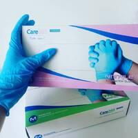 Рукавички нітрилові неопудрені СИНІ Care 365 100 пар/уп(Розмір:L,M,S,XS)