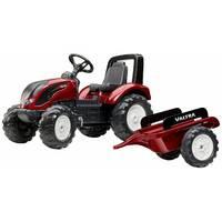 Трактор детский на педалях с прицепом Falk 4000ab VALTRA S4 (цвет - красен)