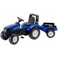 Трактор детский на педалях с прицепом Falk 3090b NEW HOLLAND (цвет - синей)
