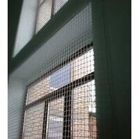 Сетка заградительная (разделительная) белая для улиц и залов, 80х80, 3,5 мм