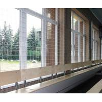 Сетка заградительная (разделительная) белая для улиц и залов, 50х50, 3,5 мм