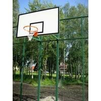 Стойка баскетбольная стационарная уличная на двух опорах (вынос фермы до 80 см)