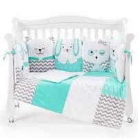 Комплект постельный Veres Smiling animals mint