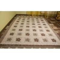 Підлоговий килимок з візерунками 140смХ200см коричневий