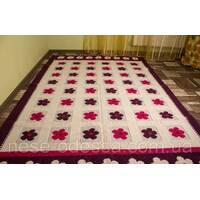 Підлоговий килимок з візерунками 140смХ200см бордовий