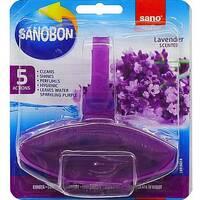 """Средство для мытья унитазов освежающее """"Лаванда"""" Sano Sanobon 5*1 Action Lavander 55 гр."""