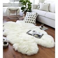 Ковер из 4-х овечьих шкур (белый)