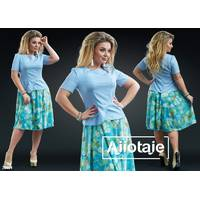 Платье - 20009 (голубой верх)