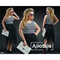 Платье - 20177 (полоска черно-белая)