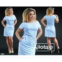Платье - 20008 (голубая основа)