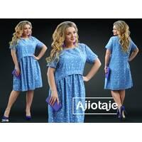 Платье - 20146 (светло-синяя основа)