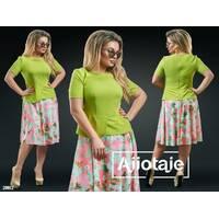 Сукня - 20012 (оливковий верх)