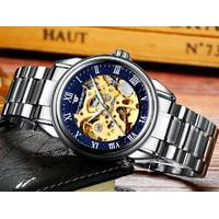 Механічний наручний годинник FNGEEN 8866 Синьо-золотих
