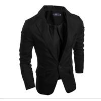 Стильний чоловічий піджак класичний,  чорний