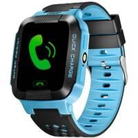 Дитячий GPS годинник з трекером Smart Y21 Синій   ліхтарик