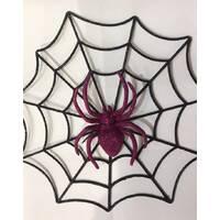 Паутина с пауком для декора
