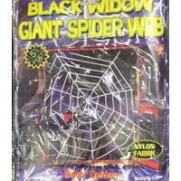 Павутина оксамитова білого і чорного кольору