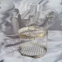 Сетка или решетка этажерка двухъярусная к тандыру Бочка