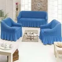 """Чехол на диван+2 кресла (Макси размер) ТМ"""" Kayra"""".Турция. - синий"""