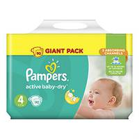 Pampers Active Baby 4.Ciant pack 90 шт. 9-14 кг.
