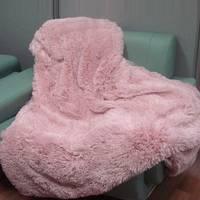 """Хутряний плед-покривало """"травичка"""" з довгим ворсом 220х240""""Пудра"""" (Ніжно рожевий)"""