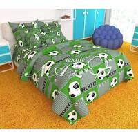 """Детский комплект постельного белья""""футбол зеленый"""""""