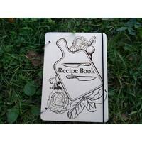 """Дерев'яна кулінарна книга для запису рецептів """"Готуємо смачно"""""""