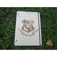 Ач блокнот з дерев'яною обкладинкою хогвардс гару поттер Hogwarts Harry Potter стильний з дерева