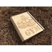 Стильный блокнот с деревянной обложкой  эко дерево